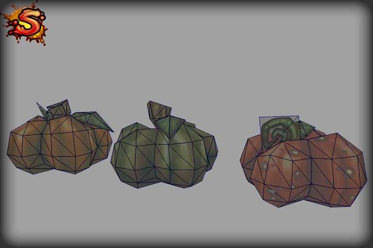spooky cemetery bundle pumpkins wireframe unity 3d sauce