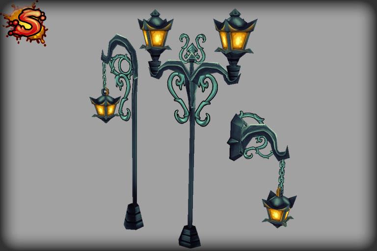 spooky cemetery bundle lamps unity 3d sauce