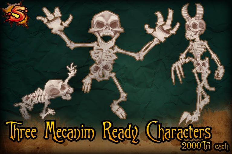 spooky cemetery bundle mecanim skeletons unity 3d sauce