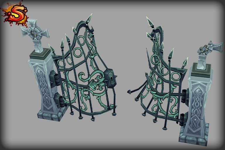 spooky cemetery bundle gate unity 3d sauce