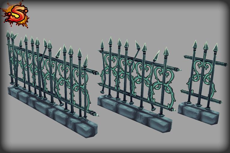 spooky cemetery bundle fences unity 3d sauce