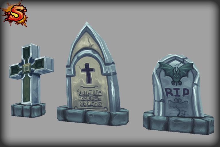 spooky cemetery bundle graves unity 3d sauce