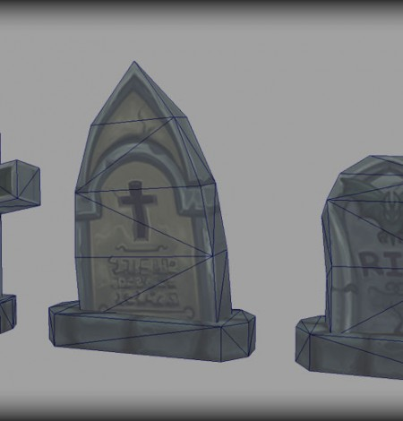 spooky cemetery bundle graves wireframe unity 3d sauce