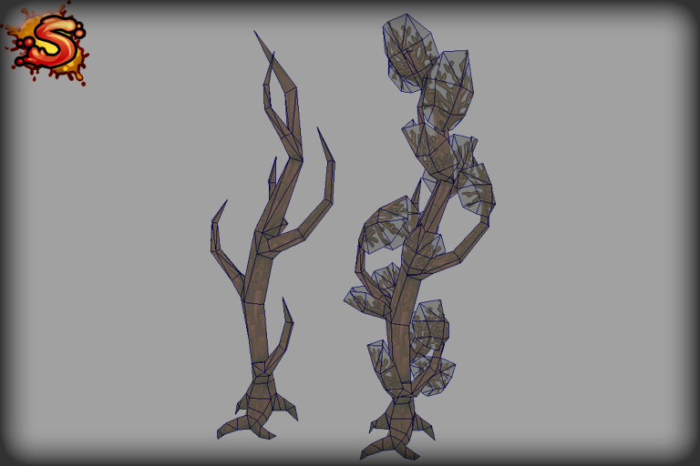 spooky cemetery bundle trees wireframe unity 3d sauce