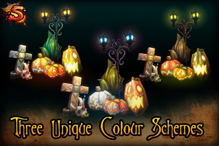 spooky cemetery bundle colors unity 3d sauce