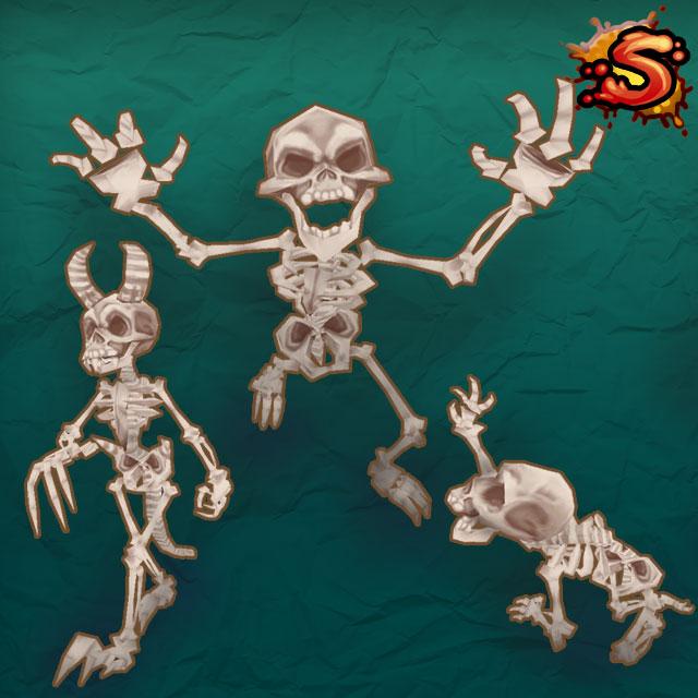 mecanim skeletons cover art unity 3d sauce