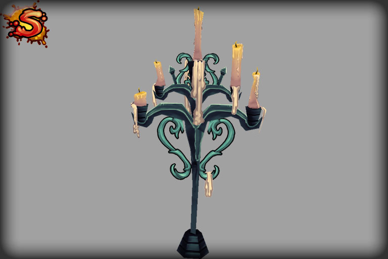 low poly candelabra unity 3d sauce
