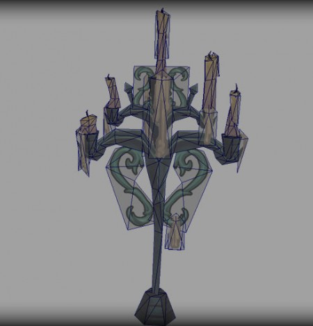 low poly candelabra wireframe unity 3d sauce