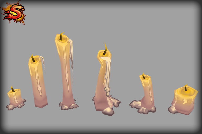 low poly candles unity 3d sauce