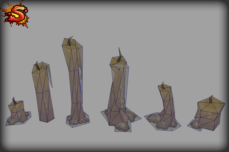 low poly candles wireframe unity 3d sauce
