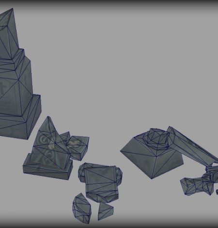 gravestones damaged wireframe unity 3d sauce