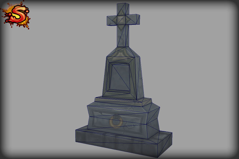 headstone wireframe unity 3d sauce