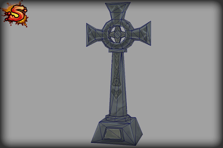 tombstone cross wireframe unity 3d sauce