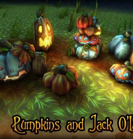 halloween pumpkins & jack-o'-lanterns beauty shot unity 3d sauce