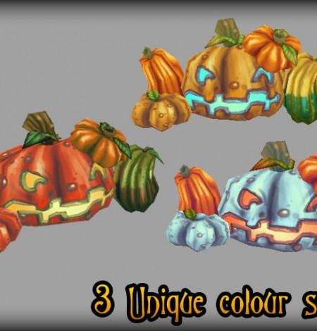 halloween pumpkins & jack-o'-lanterns colors unity 3d sauce