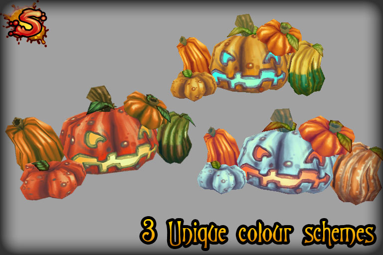 halloween pumpkins & jack-o'-lanterns colors unity 3d sauce