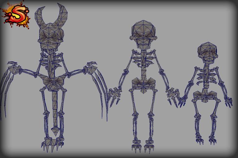 mecanim skeletons wireframe unity 3d sauce
