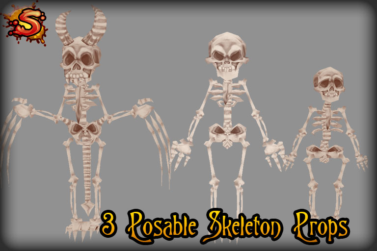 skeleton character props unity 3d sauce