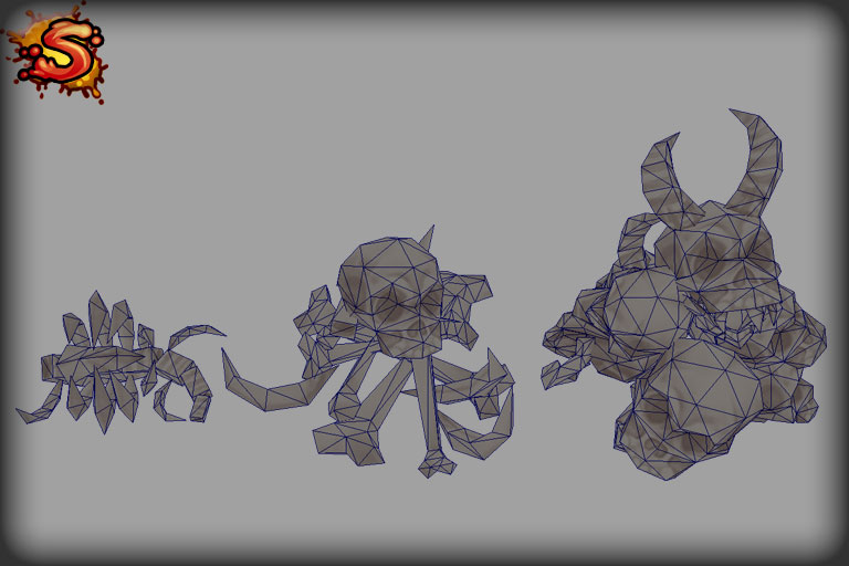 low poly skeleton bone props wireframe unity 3d sauce