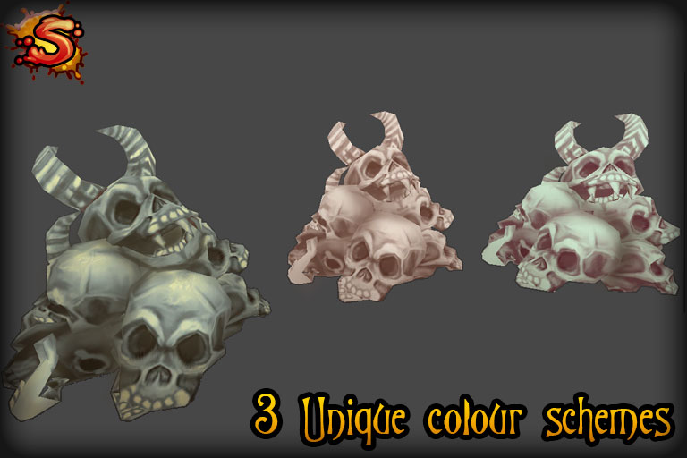 skeleton bone prop colors unity 3d sauce