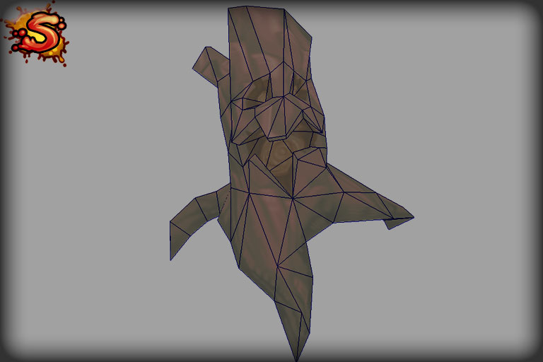 haunted stump wireframe unity 3d sauce