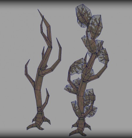 haunted trees wireframe unity 3d sauce