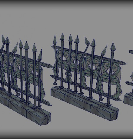 steel fences wireframe unity 3d sauce
