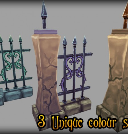 steel gate and fence colors unity 3d sauce