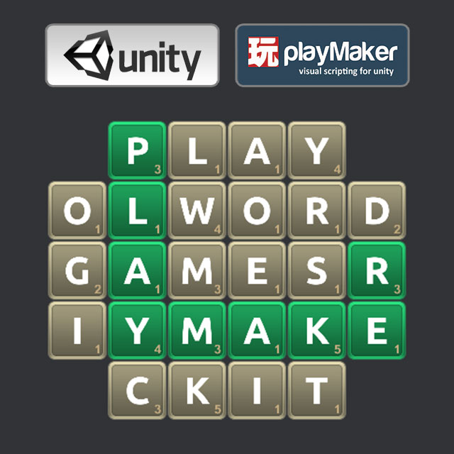 Playmaker word game kit 3d sauce for Playmaker templates